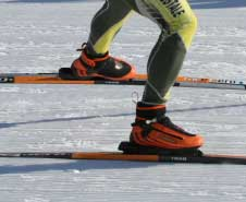 Go Faster cross country ski boot and binding system
