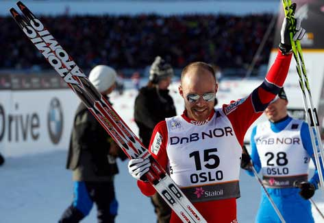 Tord Gjerdalen of Norway landed his first ever individual podium finish at a World Championships.