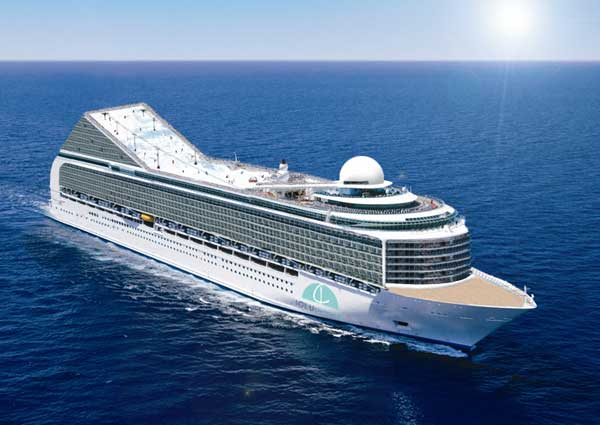Skiing offered on Caribbean cruise ship