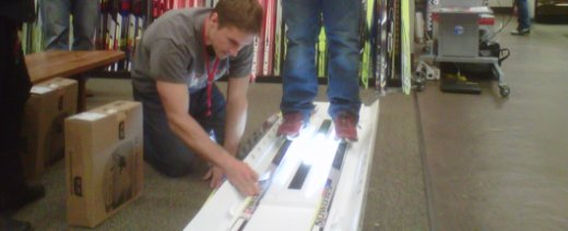 cross country skis superbly fitted and selected on the state of the art 3D pressure mat by CXC Team athletes and coaches