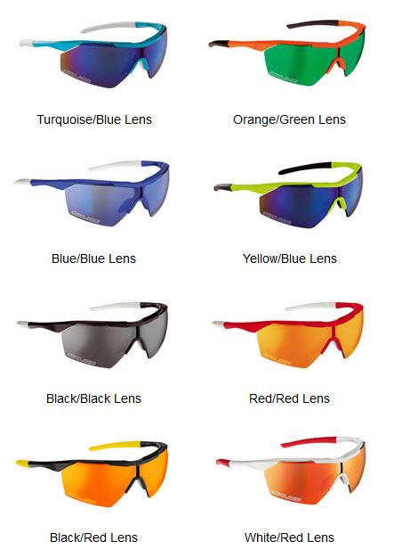 Available colors for the Salice 004 RW sunglasses
