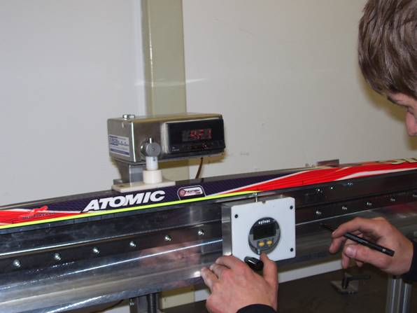 Atomic race stock Nordic skis