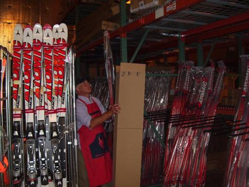 Atomic race stock XC skis