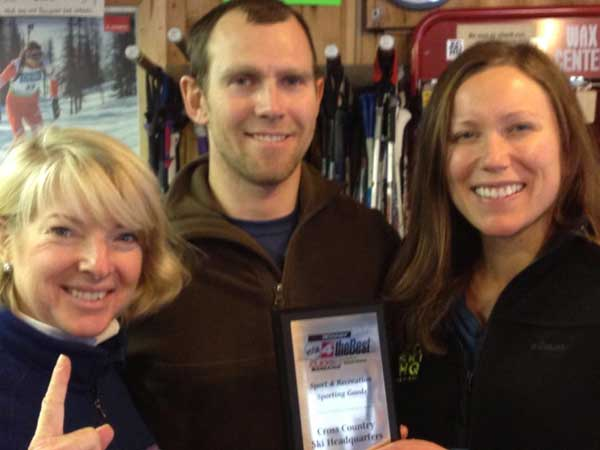 The Cross Country Ski Headquarters was voted this year's winner for best Sports & Recreation Sporting Goods shop from Click on Detroit's Vote4theBest contest!