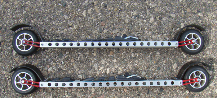 Another close-up of Pursuit Fork Flex Rollerski fork and frame