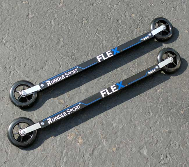UPDATED: Rundle Sport FLEX Skate Roller Skis Tame Rough