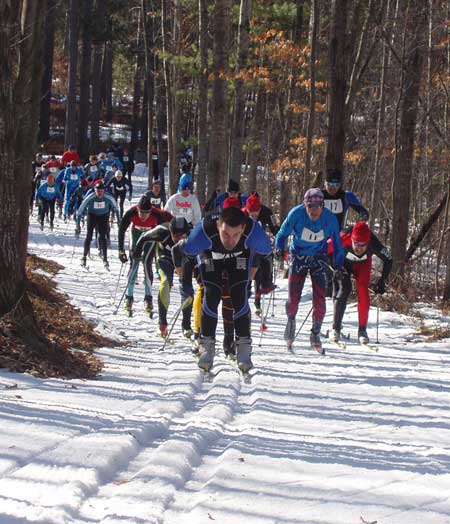 Michigan cup relays at the cross country ski headquarters