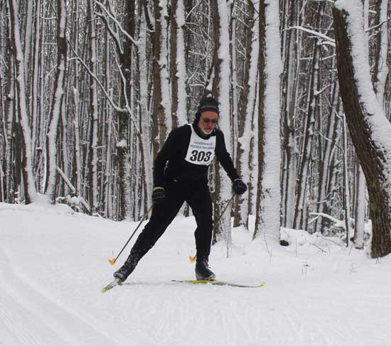Eric sholz at the michigan cup team time trial cross country ski race