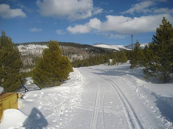 Leadville cross country ski race course