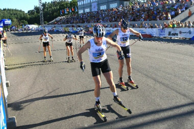 Rollerski racing on the World Cup