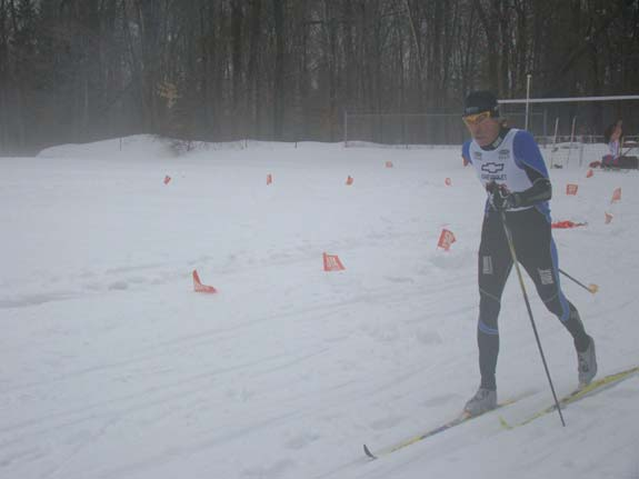 Bill Kaltz lost a basket at the beginning of the Holiday classic cross country ski race