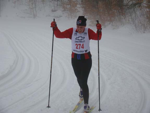 Ivanka Berkshire wins the Holiday Classic cross country ski race