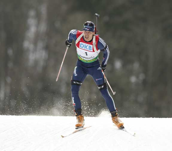 Jay Hakkinen in Ruhpolding, Germany biathlon