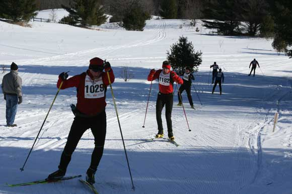 Cross country skiers in the 20K White Pine Stampede