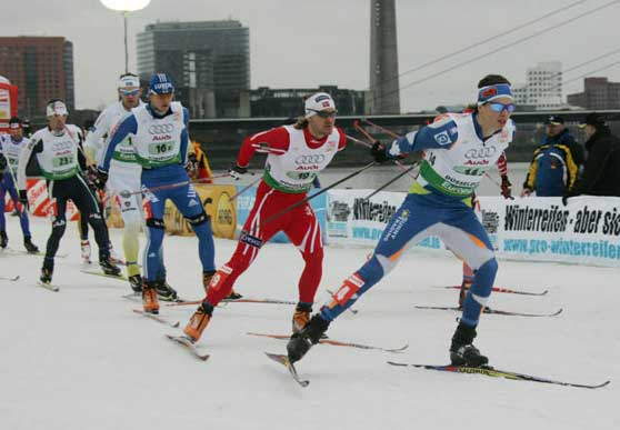 World Cup cross county ski sprints in Düsseldorf