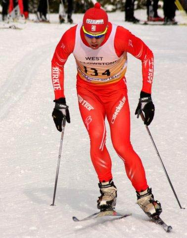 Karl Nygren cross country ski racing in West Yellowstone