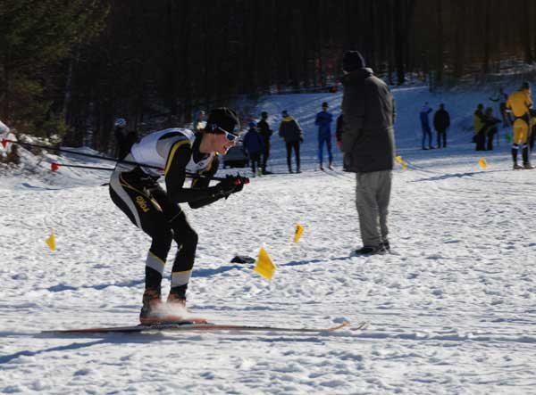 Mac Brennan on his way to victory in the Holiday Classic XC Ski Race