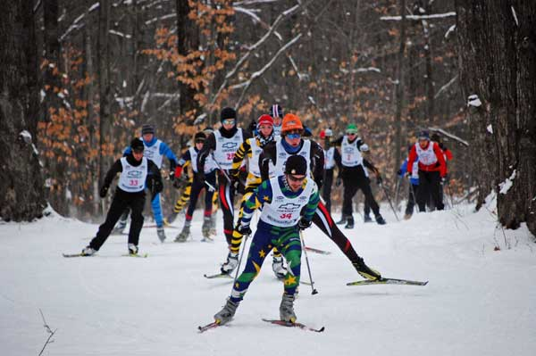 Junior Nationals Qualifier cross country ski race at the Boyne Valley Lodge