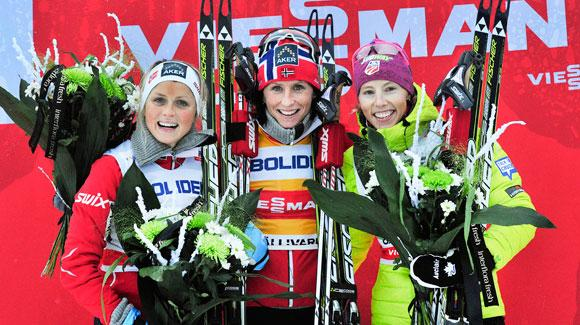 Career best finish for Kikkan Randall and Holly Brooks at the World Cup in Gaellivare 10k freestyle XC ski race