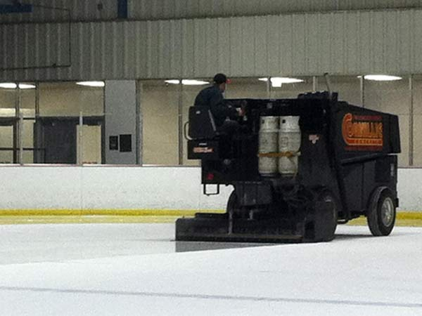 Zamboni shot - the way be get snow for the XC ski race course