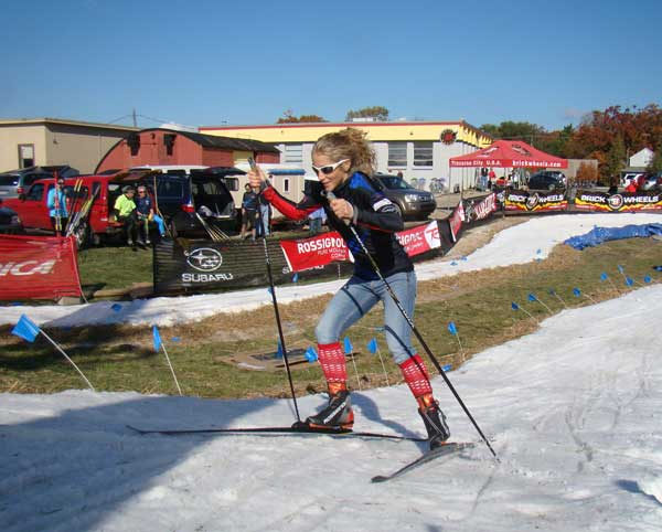 Amy Powell wins the Ski Fest cross country ski race