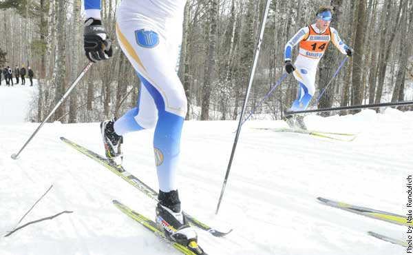 Nordic skiers for The College of St. Scholastica in 2012