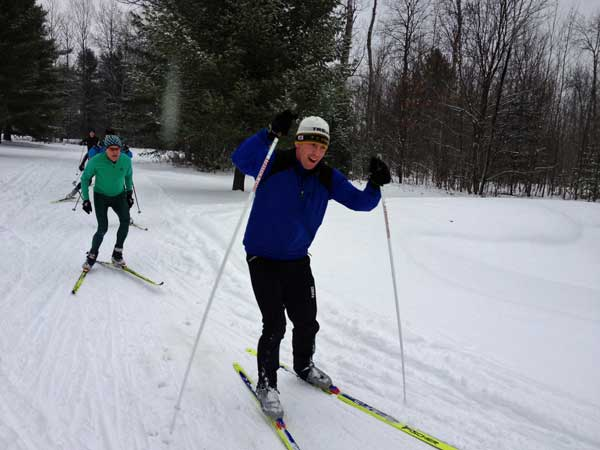 Cross country ski flash race in Kalkaska, MI