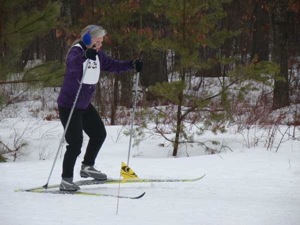 In the race at the Michigan Cup Relays at the Cross Country Ski Headquarters in 2013