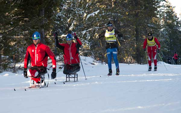 Team CXC Paralympic cross country skiers