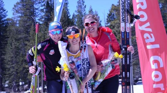 Liz Stephen became the women's 2013 USSA National Distance Champion Wednesday at Royal Gorge Ski Area while teammate and World Cup Champion Kikkan Randall came in second. (SuperTour Finals 2013)