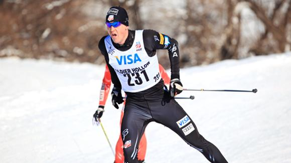 Erik Bjornsen skied to his first U.S. title at the U.S. Cross Country Championships at Soldier Hollow. (USSA-Sarah Brunson)