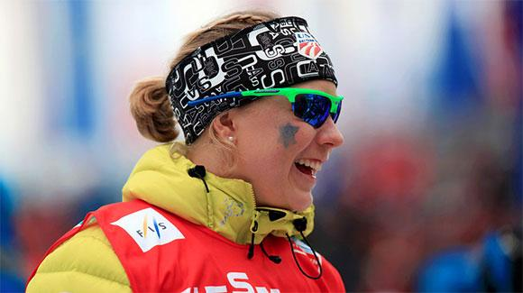 U.S. Ski Team athlete Ida Sargent, shown here at last year's World Championships, led the USA finishing 10th in a classic sprint in Asiago. (U.S. Ski Team - Sarah Brunson)