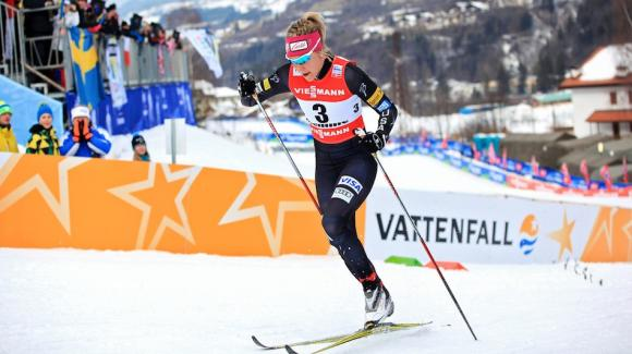 Sadie Bjornsen delivered another breakout result Saturday in the Lillehammer 10k classic World Cup, where she skied into seventh and matched her career-best individual result set just a week ago in Kuusamo, Finland. (Sarah Brunson/U.S. Ski Team)