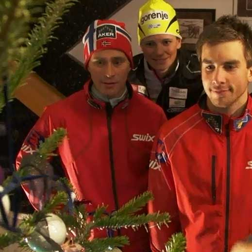 A Christmas greeting from the World Cup stars