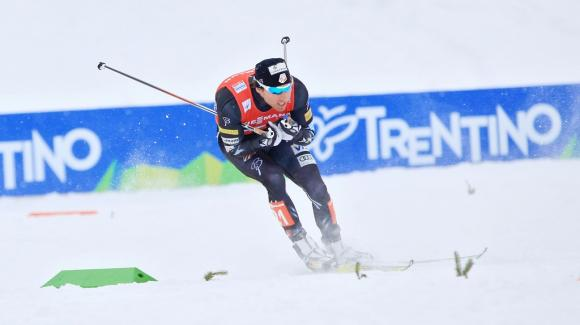 Andy Newell placed 11th and took the top finish for the USA in the Royal Palace Classic Sprint. Here he is racing at World Champs in Val di Fiemme, Italy. (Sarah Brunson/U.S. Ski Team)