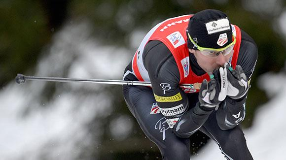 Andy Newell (shown here racing in Tour de Ski) was sixth in a classic sprint at the FIS Cross Country World Cup in Liberec, Czech Republic. (Getty Images/Bongarts)