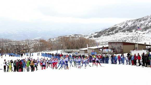 The 2002 Olympic venue of Soldier Hollow, shown here playing host to last spring's Marriott U.S. Junior Championships, will be the site of this year's U.S. Cross Country Championships Jan. 2-8. (USSA-Sarah Brunson)