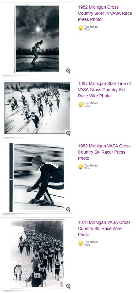 Vintage photos from the North American Vasa cross country ski race