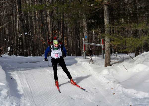 Philip Tosteson on his way to victory at the Black Mountain cross country ski race
