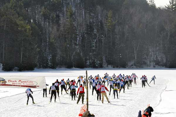 Start of the Black Mountain Freestyle cross country ski race