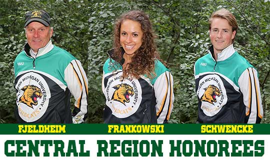 MARQUETTE, Mich. – Northern Michigan University senior Rosie Frankowski and freshman Fredrik Schwencke were voted as the Central Region Female and Male Athletes of the Year as voted by the Central Collegiate Ski Association coaches. In addition, NMU head coach Sten Fjeldheim has been named the Central Region Men's Coach of the Year by the CCSA