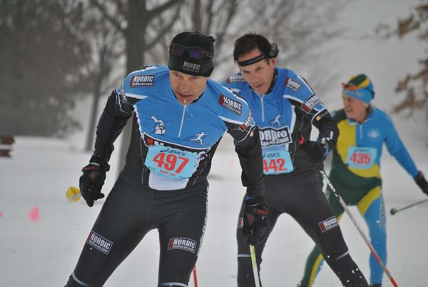 Ken Dawson, Doug Cornell and Robin Luce at the REI Frosty Freestyle Cross Country Ski Race