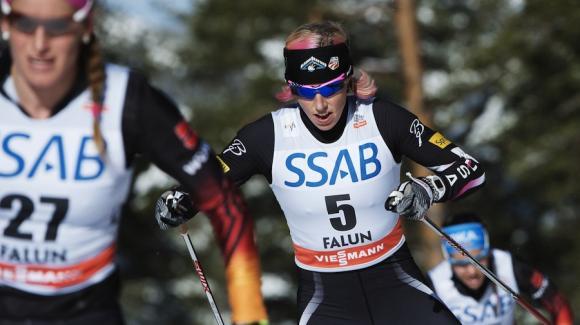 World Cup sprint champion Kikkan Randall skied into 13th Sunday in the 10k freestyle pursuit, closing the three-day Falun mini-tour and putting a stamp on another successful World Cup season. (Getty Images/AFP/Jonathan Nackstrand)