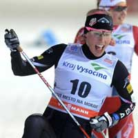 Video: Randall wins freestyle sprint at Nove Mesto