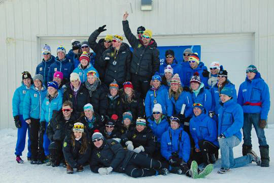 2014 NMU cross country ski team