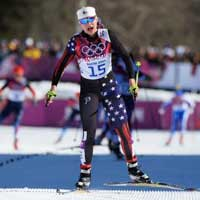 Diggins Eighth in Opening Sochi Skiathlon