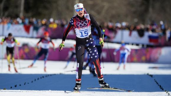 First-time Olympian Jessie Diggins skied into an impressive eighth and secured the top spot for Team USA in the women's skiathlon Saturday, the opening Olympic cross country event at the Laura Cross Country Ski Center. (Getty Images/Harry How)