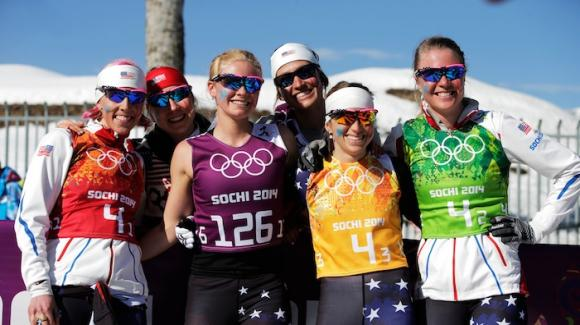 Team USA left it all on the course Saturday but was not able to keep pace and finished ninth at the women's 4x5k relay of the 2014 Sochi Olympic Winter Games. (Getty Images/Adam Pretty)