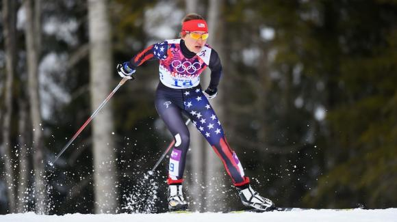 World Champion Kikkan Randall suffered a heartbreaking loss Tuesday when she was knocked out of the individual freestyle sprint event Tuesday at the 2014 Sochi Olympic Winter Games, while rookie Sophie Caldwell (pictured) skied into sixth and the top spot for the USA. (Getty Images/Harry How)
