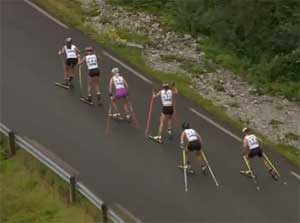 Liz Stephen wins 7 km uphill Norwegian rollerski race